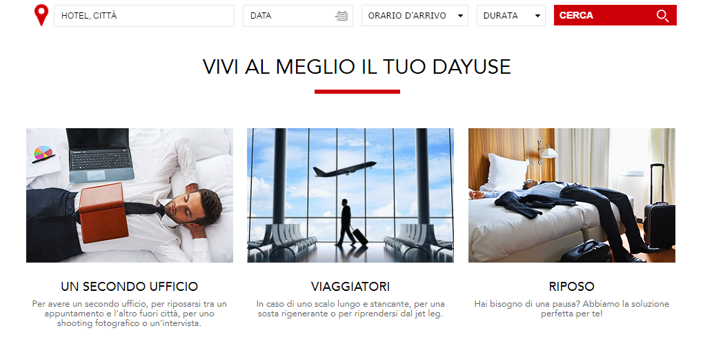 Day use hotel in Italia
