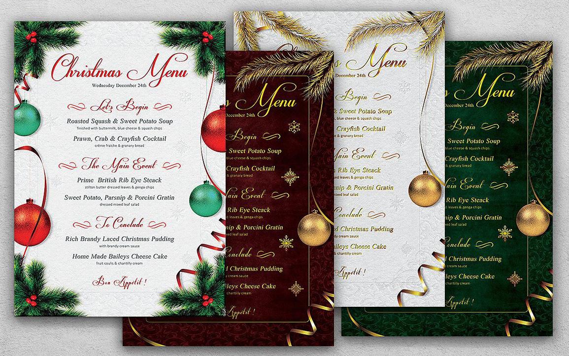Suggerimenti Per Menu Di Natale.Menu Design Di Natale Per Hotel E Ristoranti